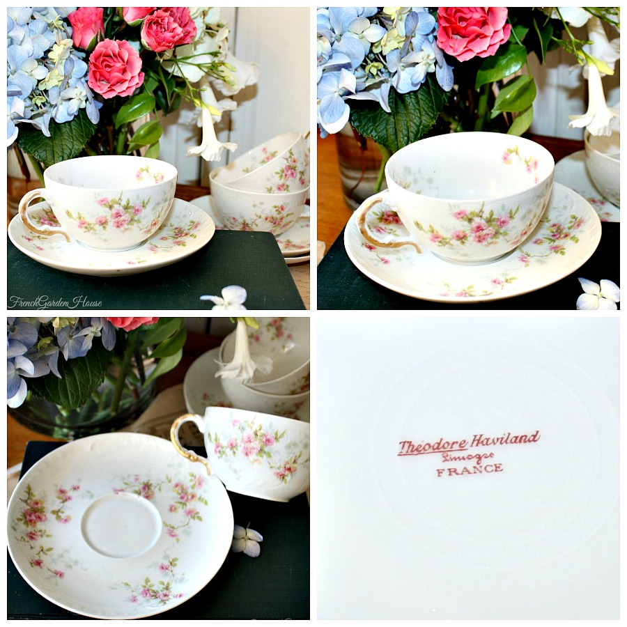 Antique French Haviland Limoges Roses Tea Cup