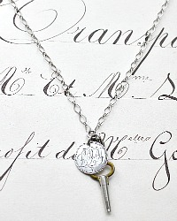 Georgia Hecht Antique Sterling Love Token Necklace 1851