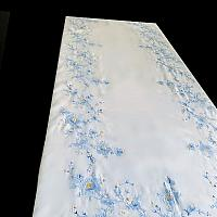 Heirloom Vintage Madeira Blue & White Tablecloth Setting for 12