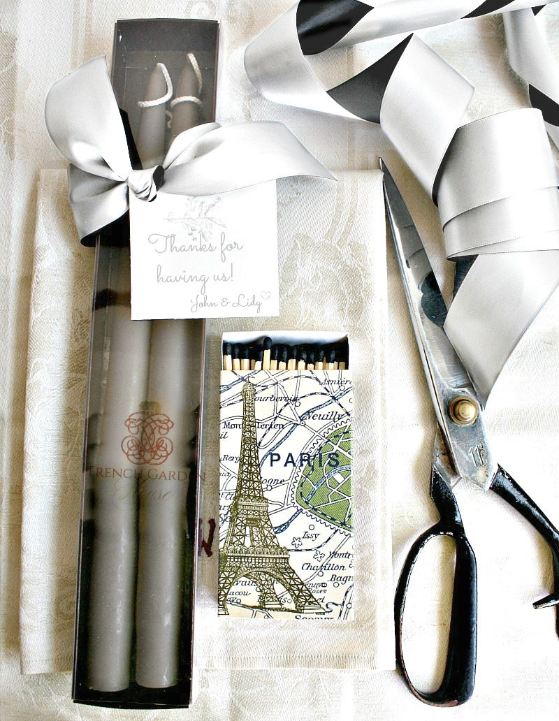 Hand Dipped Parisian Gris Taper Candles Gift Set