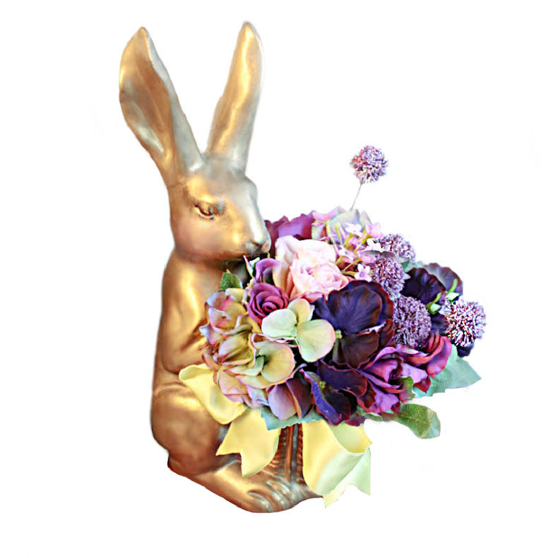 Madame Lapin Bunny Faux Floral Pansies