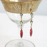 Pink Marquise Dangle Earrings