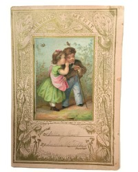 Antique Lithographed Pink Reward of Merit