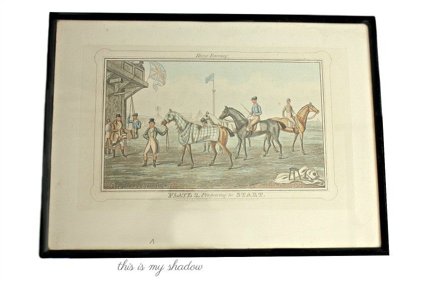 Antique Aquatint Engraving Horse Raceing 1836