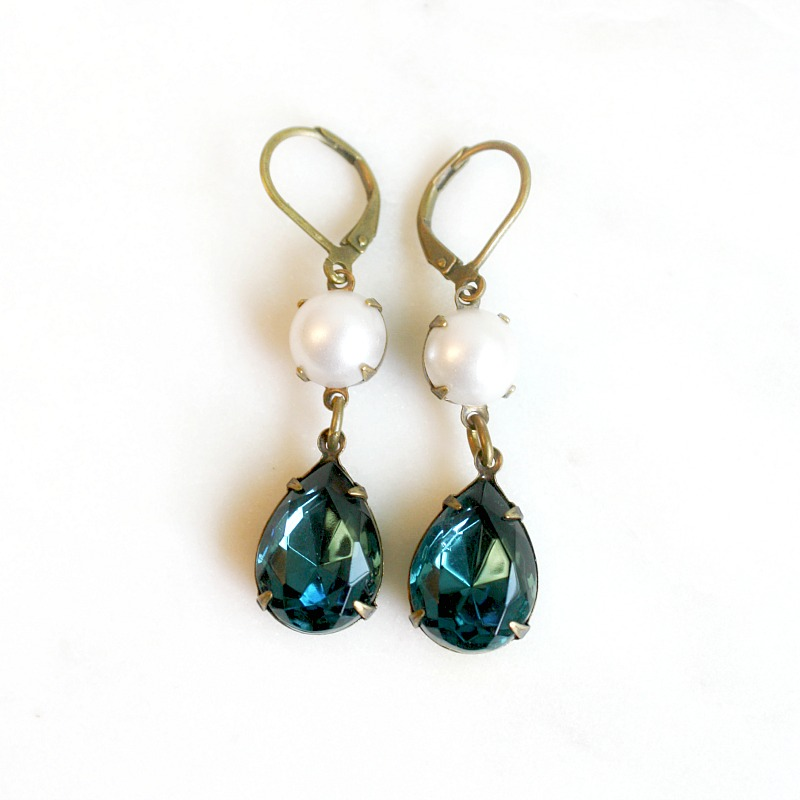 Midnight in Paris Sapphire Earrings