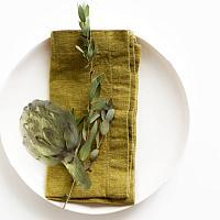 European Linen Napkins Set of 4 Vert