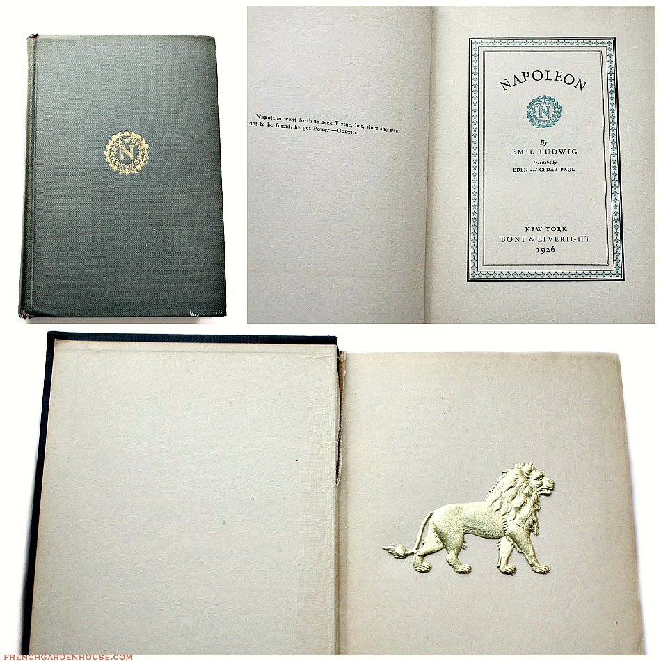 Napoleon by Emil Ludwig, 1928 Edition