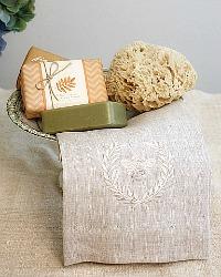 Luxurious Linen Towel Napoleonic Bee Flax