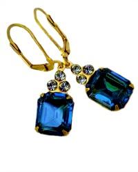 La Lune Blue Earrings