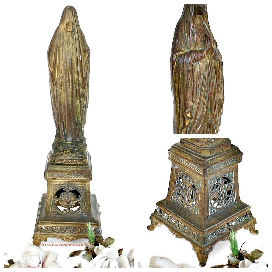 Antique French Madonna Notre Dame Souvenir