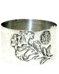 Antique Victorian French Notre Dame Silver Souvenir Napkin Ring