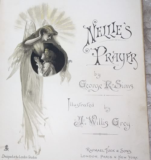 Antique Victorian Children's Book Tuck Nellie's Prayer
