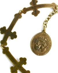 Tara Gasparian Bronzed Nun's Cross Bracelet