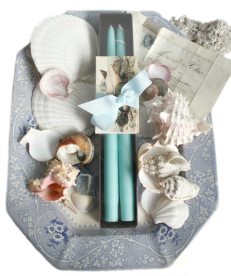 Hand Dipped Ocean Taper Candles Gift Set