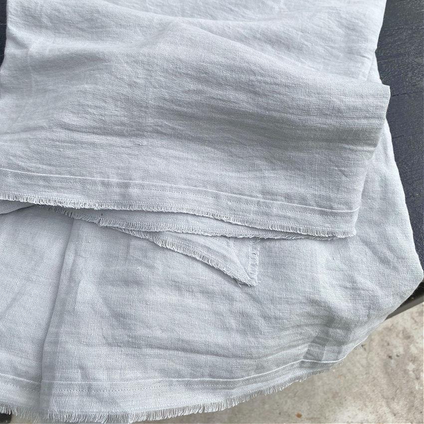 Soft Ocean Blue Linen Tablecloth