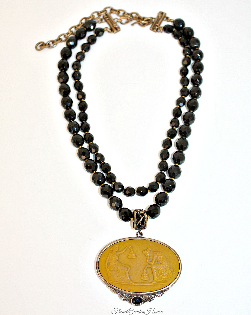 Extasia Ochre Cameo Statement Necklace