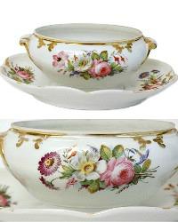 Fine Antique Hand Painted Old Paris Porcelain Sauce Bowl