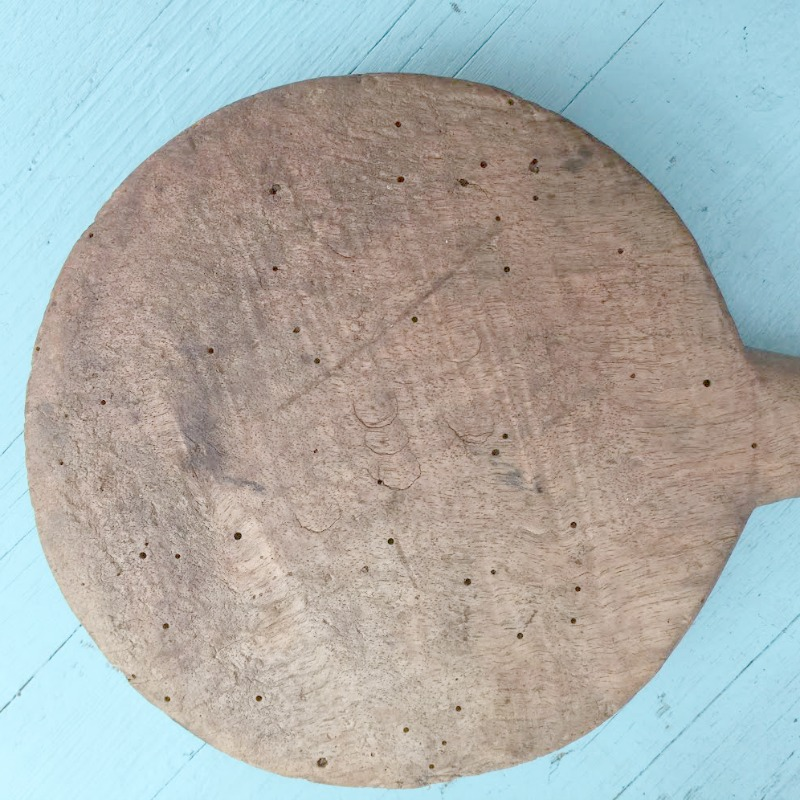 19th Century French Round Wood Laundry Paddle