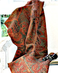 Early Contintental Paisley Country Shawl Throw