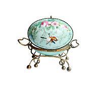 Antique French Palais Royal Porcelain & Gilt Ormolu Egg Casket