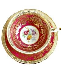 Collectable Paragon Garden Flowers Spray Gilt Teacup and Saucer Set
