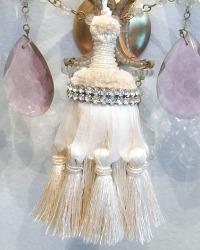 Parisian Atelier Holiday Rhinestone Bugle Beaded Tassel Ornament