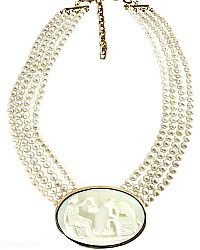 Extasia Minerva Ivory Pearl Statement Necklace