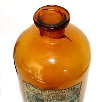 Antique French Amber Glass Pharmacie Apothecary Jar