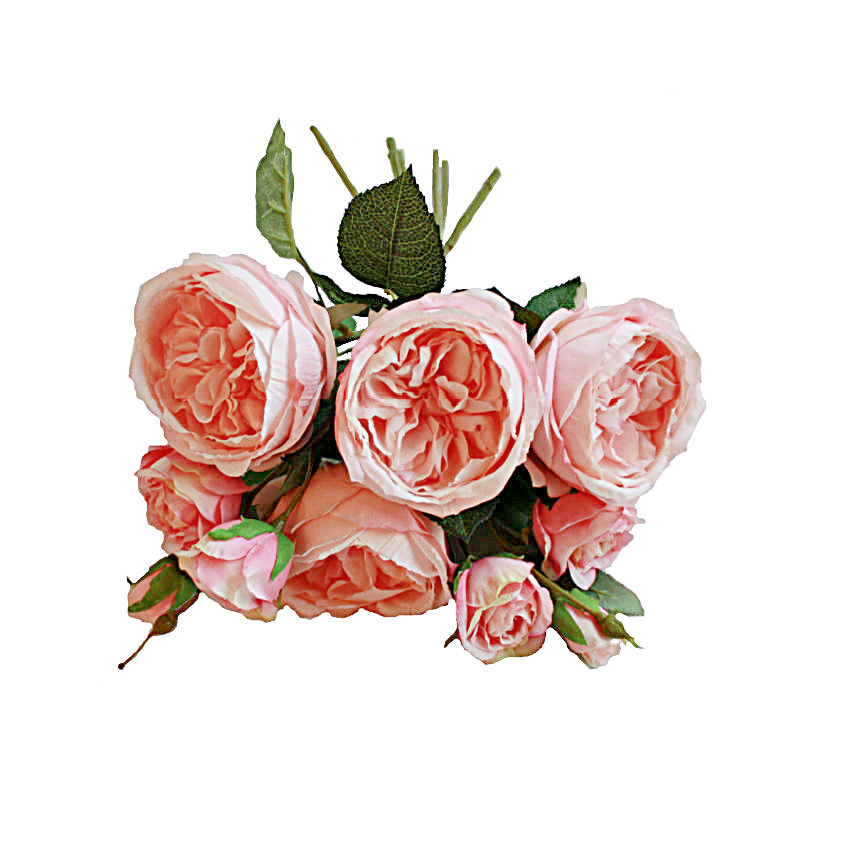 Romance Poetique Pink Cabbage Rose Hand Tied Bouquet