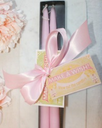 Hand Dipped Taper Candles Make a Wish Gift Set