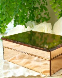 Vintage Pink Mirrored Vanity Jewelry Box