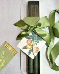 Hand Dipped Taper Candles Gift Set Les Pommes de la Foret