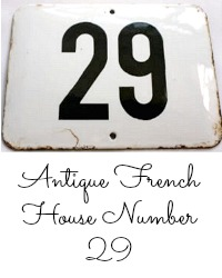 Antique French Enamel House Number 29