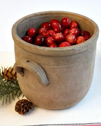 French Burgundy Confit Pot en Gres Unglazed with Handles