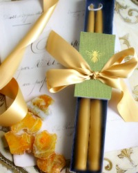 Hand Dipped Provence Sunflower Taper Gift Set