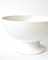 Antique White Ironstone Punch Bowl