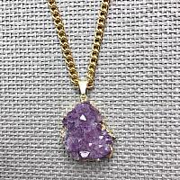 Purple Druzy Amethyst Muse Necklace