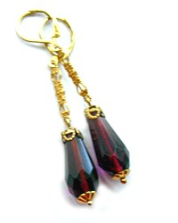 One of a Kind Purple Passion Earrings