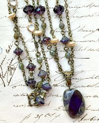 Georgia Hecht Semiprecious Purple Pendant Necklace