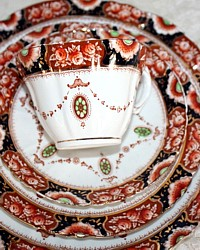 Vintage 1920's Imari Royal Albert Porcelain China Teacup Place Setting