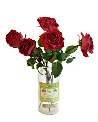Deep Merlot Red Rose Bouquet