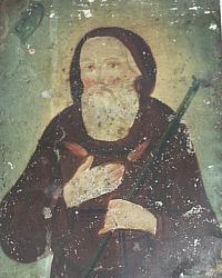 Antique 19th Century Spanish Colonial Retablo Icon Saint Francis de Paula