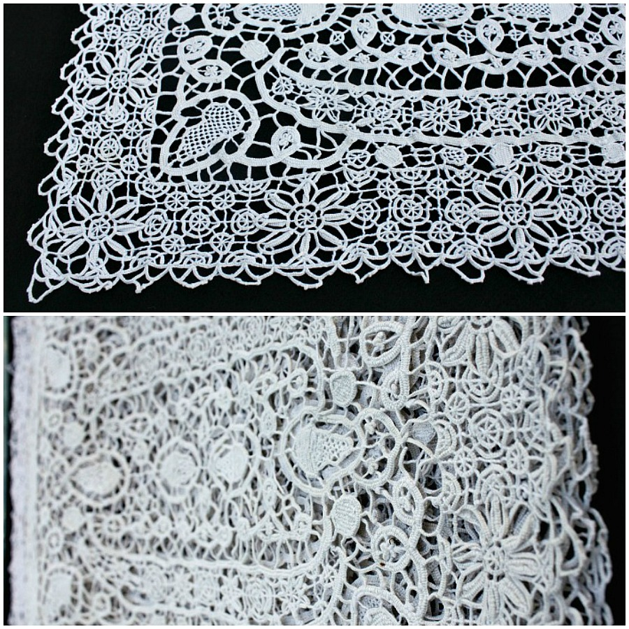 Antique Italian Reticella Needle Lace Table Place Mats Set of Six