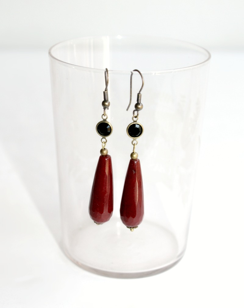 Reves de Merlot Earrings