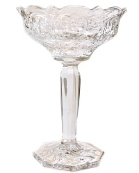 Antique EAPG Tall Glass Art Nouveau Jelly Serving Compote