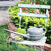 Antique Country Garden Round Watering Can