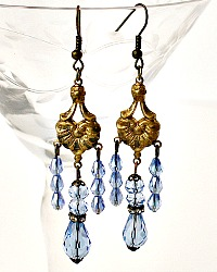 L'Heure Blueu One of a Kind Chandelier Earrings