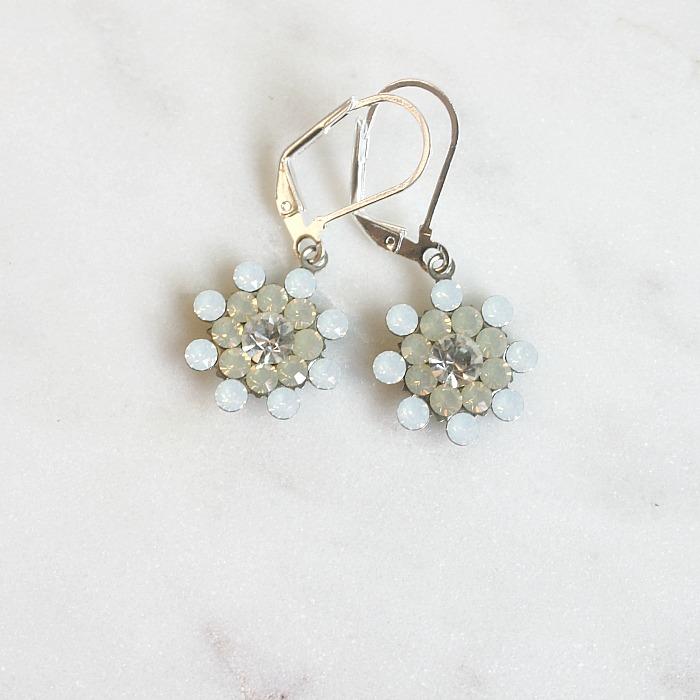 White Opal Sand Earrings