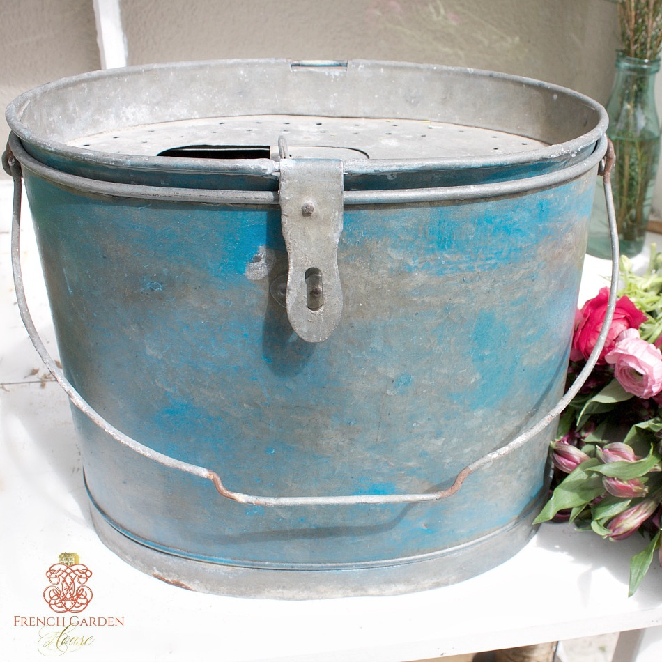 Vintage French Classic Minnow Bucket Bait Pail