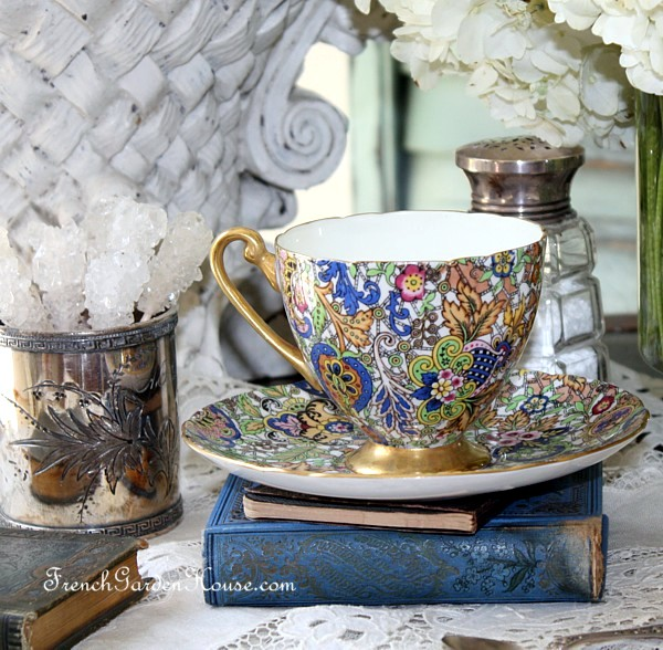 Rare Shelley Blue Paisley Chintz Pattern 14038 Tea